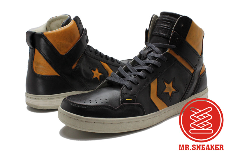 Mr.Sneaker  CONVERSE John Varvatos JV Weapon MID 復古 仿舊 刷舊 破壞 Magic Johnson 湖人 黑色 黃色