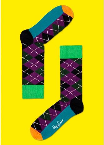 ☆Mr.Sneaker☆ 瑞典 Happy Socks 2013 菱格紋 中筒襪 AR01 繽紛 歡樂 快樂襪 男女尺碼 彩色 綠/紫/黑