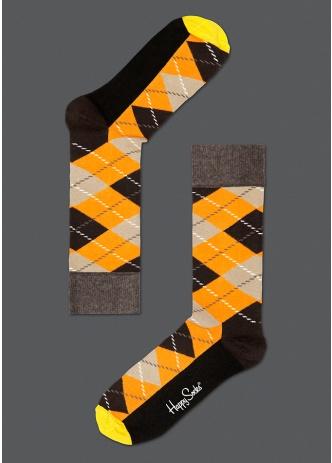 ☆Mr.Sneaker☆ 瑞典 Happy Socks 2013 菱格紋 中筒襪 AR01 繽紛 歡樂 快樂襪 男女尺碼 彩色咖啡 橘/褐/黑