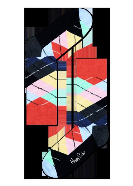 ☆Mr.Sneaker☆ 瑞典 Happy Socks 2015 菱格紋 中筒襪 AR01 繽紛 歡樂 快樂襪 男女尺碼 彩色 紅/藍/粉色
