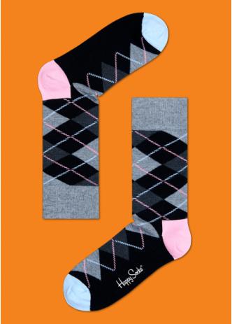 ☆Mr.Sneaker☆ 瑞典 Happy Socks 2015 菱格紋 中筒襪 AR01 繽紛 歡樂 快樂襪 男女尺碼 彩色 灰/粉/藍