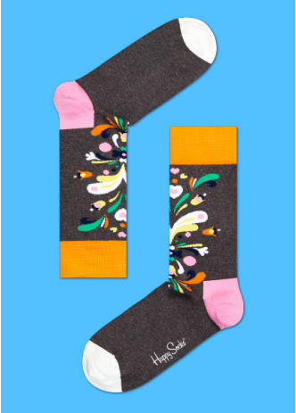 ☆Mr.Sneaker☆ 瑞典 Happy Socks 2015 炫彩花繪 中筒襪 CU01 繽紛 歡樂 快樂襪 男女尺碼 潑墨 白/灰/橘