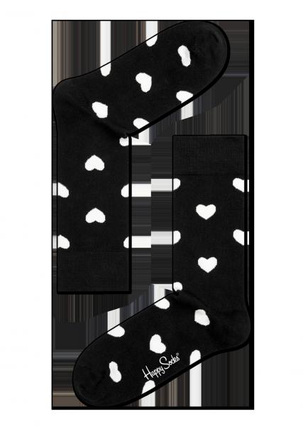 ☆Mr.Sneaker☆ 瑞典 Happy Socks 2015 心心相印 中筒襪 HA01 繽紛 歡樂 快樂襪 男女尺碼 愛心 黑/白