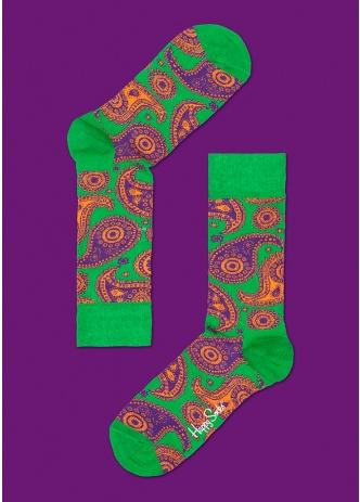 ☆Mr.Sneaker☆ 瑞典 Happy Socks 2013 變形蟲 中筒襪 PA01 繽紛 歡樂 快樂襪 綠/紫/橘