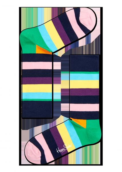 ☆Mr.Sneaker☆ 瑞典 Happy Socks 2015 多彩橫條 中筒襪 SA01 繽紛 歡樂 快樂襪 男女尺碼 粉紅/綠/黑