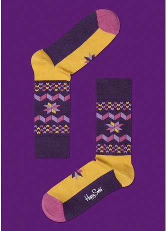 ☆Mr.Sneaker☆ 瑞典 Happy Socks 2013 雪花 中筒襪 SF12 繽紛 歡樂 快樂襪 彩色 冬季 橘/紫/桃紅