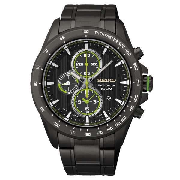 Seiko Spirit 7T92-0SE0SD(SNDG33P1)街頭酷黑限量計時腕錶/黑面43mm