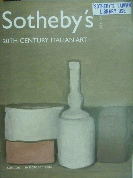 【書寶二手書T3/收藏_XDX】Sothebys_2004/10/19_20th Century..Art