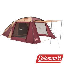 2015年秋冬?? Coleman 勃根地 2 ROOM HOUSE露營帳 4-5人 CM-28267M 限量販售