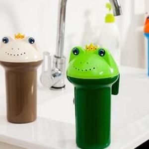 美麗大街【BF311E26E888】創意青蛙造型花灑水勺寶寶洗頭洗澡沐浴水瓢淋浴器戲水杯