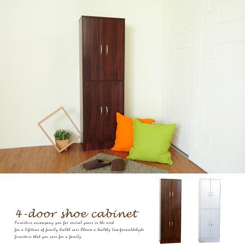 生活大發現-DIY家具-H-現代四門十層鞋櫃-二色可選