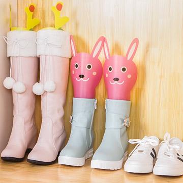WallFree窩自在★卡通造型可調高度靴撐片彈力靴撐-4色