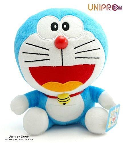 【UNIPRO】哆啦A夢 Doraemon 小叮噹 8.5吋 坐姿 絨毛玩偶 娃娃 禮物