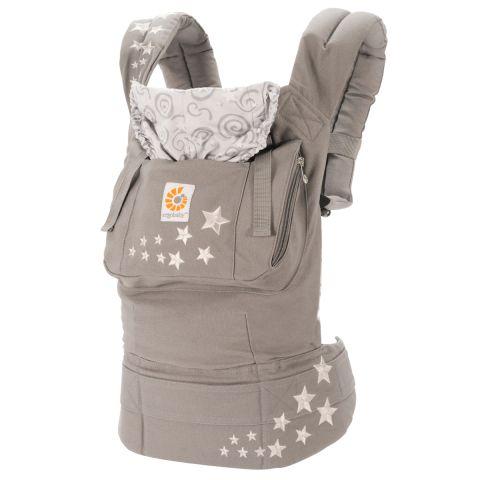 【淘氣寶寶】美國Ergo Baby ergobaby Carrier寶寶揹帶/揹巾(原創款*灰星) 【贈美國製醫療香草奶嘴3顆】