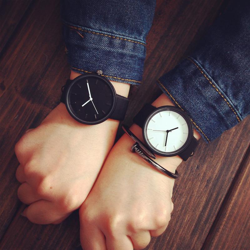 潮流原宿簡約情侶錶大圓錶