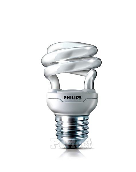 【PHILIPS ● 飛利浦】Tornado 8W(=40W) T2 迷你型螺旋省電燈泡 晝光色 / 燈泡色