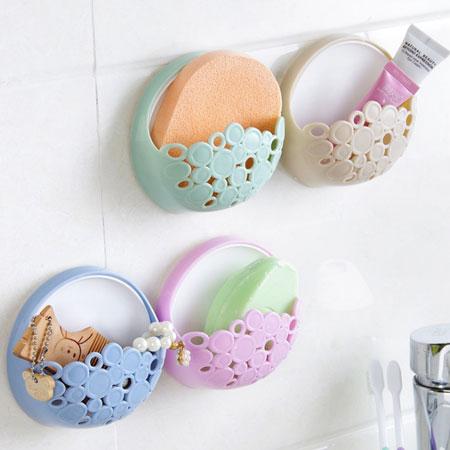 吸盤式壁掛鏤空瀝水肥皂盒 置物盒 瀝水盒 吸盤 吸壁式 肥皂架 簍空【B062388】
