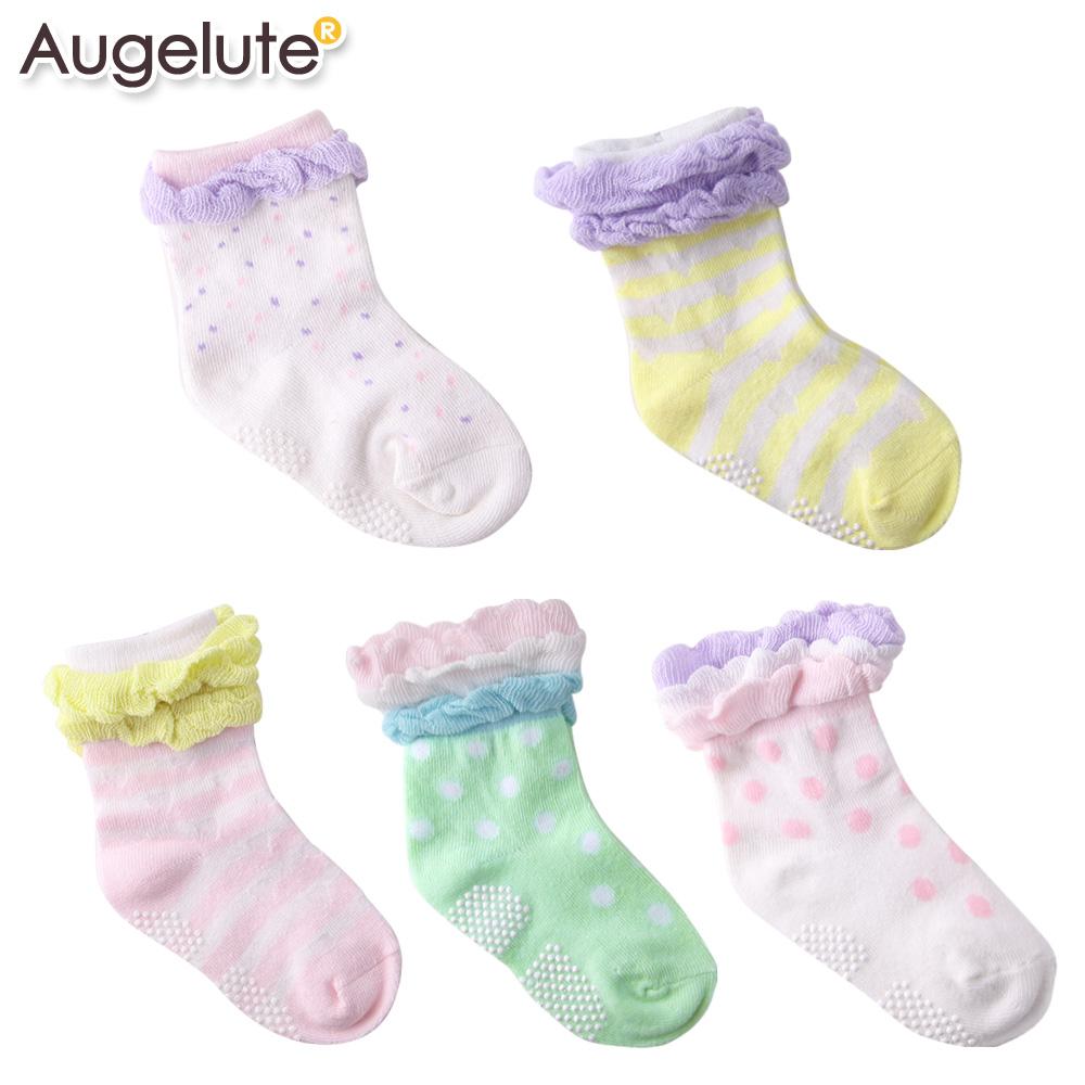Augelute Baby 棉質造型花邊防滑襪 不挑款 30894