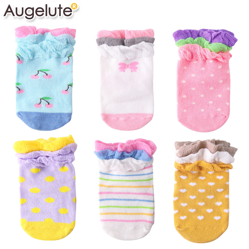 Augelute Baby 棉質造型花邊防滑襪 不挑款 30895