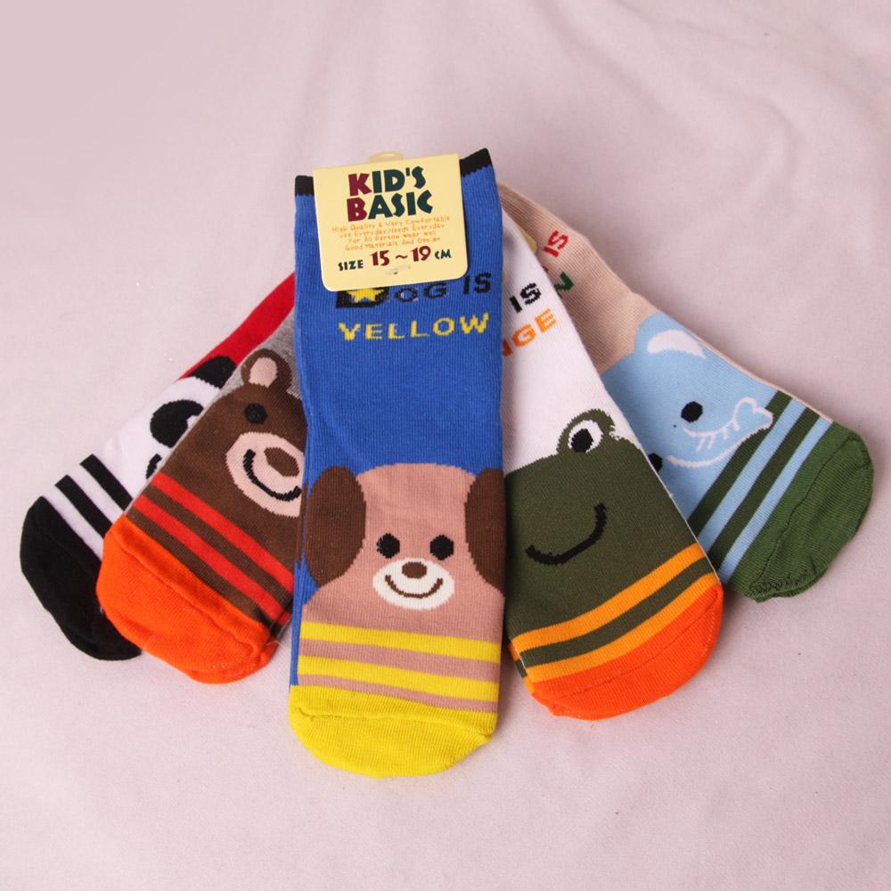 Augelute 動物造型糖果色系直板襪 不挑款 34063