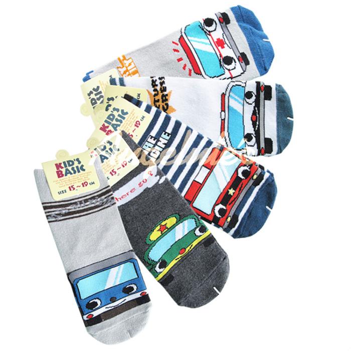 Augelute 男童汽車圖案直板襪 不挑款 34064