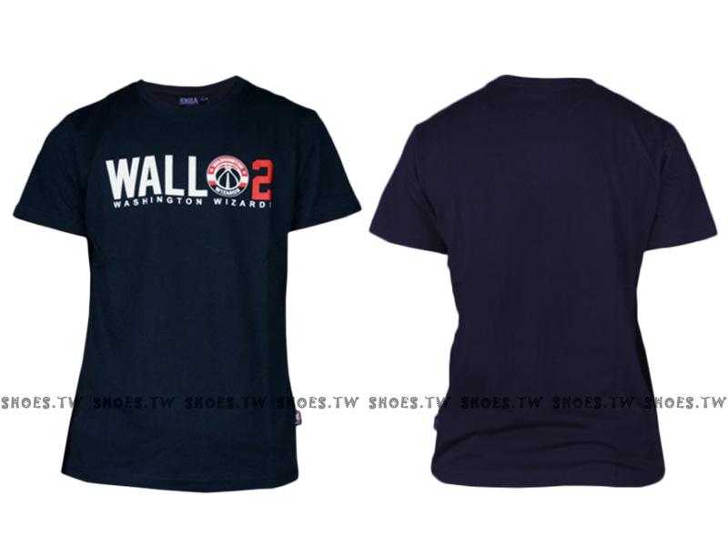 《換季折扣》Shoestw【8630234-007】NBA 背號T恤 華盛頓 巫師隊 WALL 2 深藍