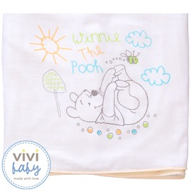 ViViBaby - Disney迪士尼小熊維尼雙面大浴巾 (毛巾+紗布)