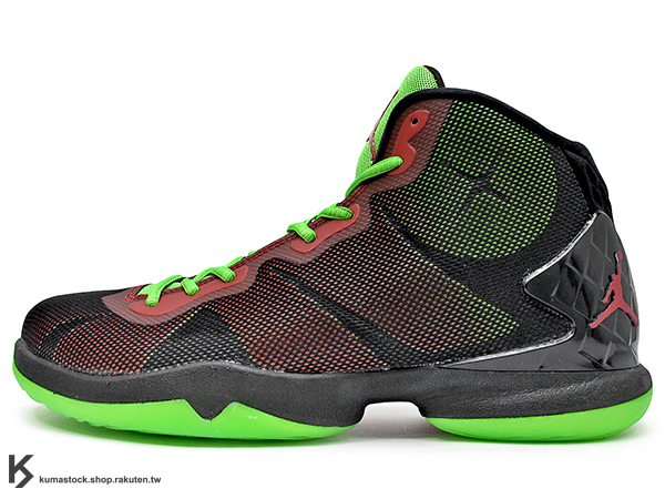 2015 NBA 快艇隊 幹籃王 Blake Griffin 最新代言 FLIGHTSPEED 科技搭載 NIKE JORDAN SUPER.FLY IV 4 MARVIN THE MARTIAN 黑紅綠 紅黑綠 馬文 前 ZOOM AIR 氣墊 HYPERFUSE 鞋面科技 SUPER FLY AJ (768929-006) !