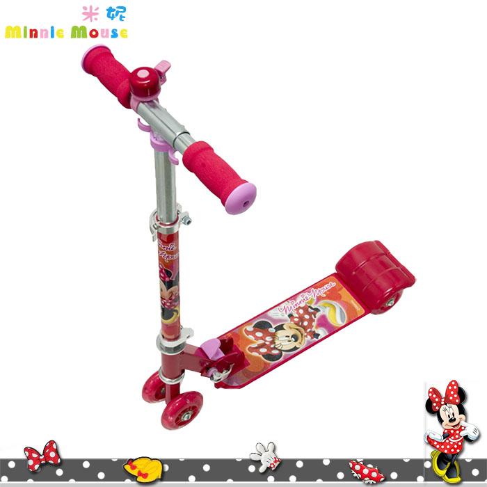 大田倉 日本進口正版迪士尼 米妮 Minnie 滑板車玩具 造型兒童滑板車 可折收 125630