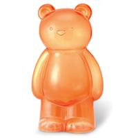 【 4M2U 】透明橘大寶貝熊存錢筒