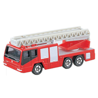 【 TOMICA 】TM108 HINO AERIAL LADDER FIRE TRUCK