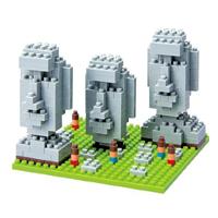 【 nanoblock 】NBH-009 復活島的巨石像 Moai Statues on Easter Island