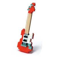 【 nanoblock 】NBC-037 紅色電吉他 Electric Guitar