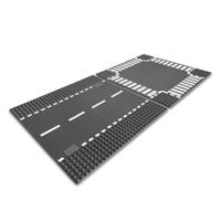 【 LEGO 樂高積木 】CITY 城市系列 > LT7280 道路底板  ( 直線道 + 十字路口 )