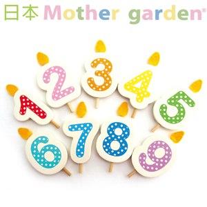 免運★木製數字慶生蠟燭組(1~10)「日本Mother Garden 」
