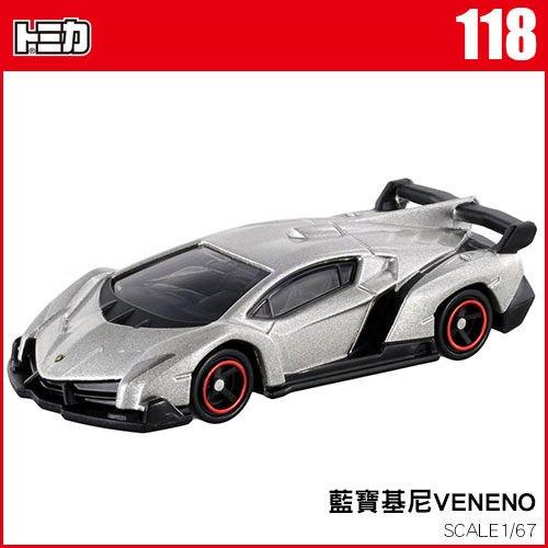 《TOMICA火柴盒小汽車》TM118 藍寶基尼 VENENO