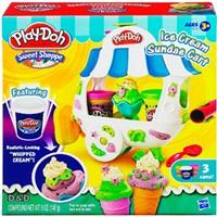 【 Play-Doh 培樂多 】聖代冰淇淋車遊戲組