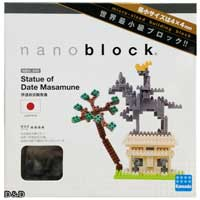 《Nano Block迷你積木》【 世界主題建築系列 】NBH - 045 伊達政宗騎馬像