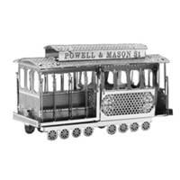 《 Tenyo 》金屬微型模型拼圖 TMN-02 舊金山纜車