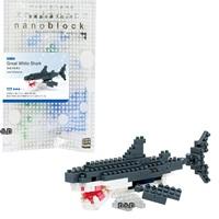 《 Nano Block 迷你積木 》【 海洋生物系列 】NBC - 082 大白鯊