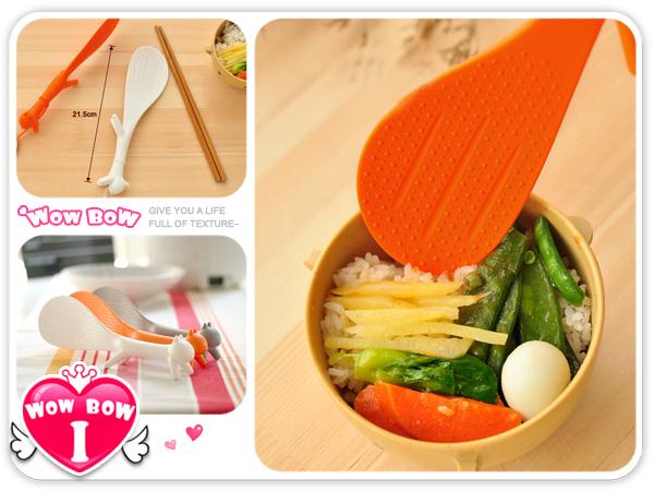 ♥愛挖寶♥【D585】韓國可愛創意松鼠造型飯勺/飯杓/飯匙/立式不粘桌米飯勺