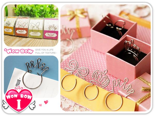 ♥愛挖寶♥【SQ02QX-1631】戒指造型迴紋針/金屬書籤/創意別針