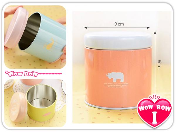 糖果色動物鐵罐♥愛挖寶YF14-075♥茶葉罐/圓型收納盒/喜糖盒/飾品收納盒/首飾盒