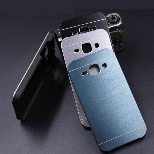 三星Calaxy A7(2016) 金屬殼 金剛拉絲手機殼 Samsung A7100 金屬拉絲 二合一保護殼  背蓋