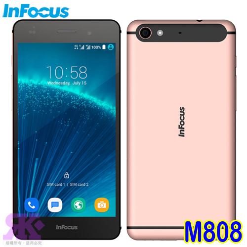 Infocus M808(32G) 5.2吋八核雙卡智慧手機-贈專用皮套+9H鋼化玻璃保貼+手機/平板支架