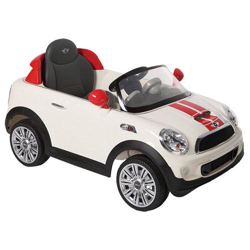 【淘氣寶寶】2016年 兒童電動車Mini CooperS 遙控電動車 白色【型號W456EQ】【贈 KK12天然草本抗菌洗手乳250ml】