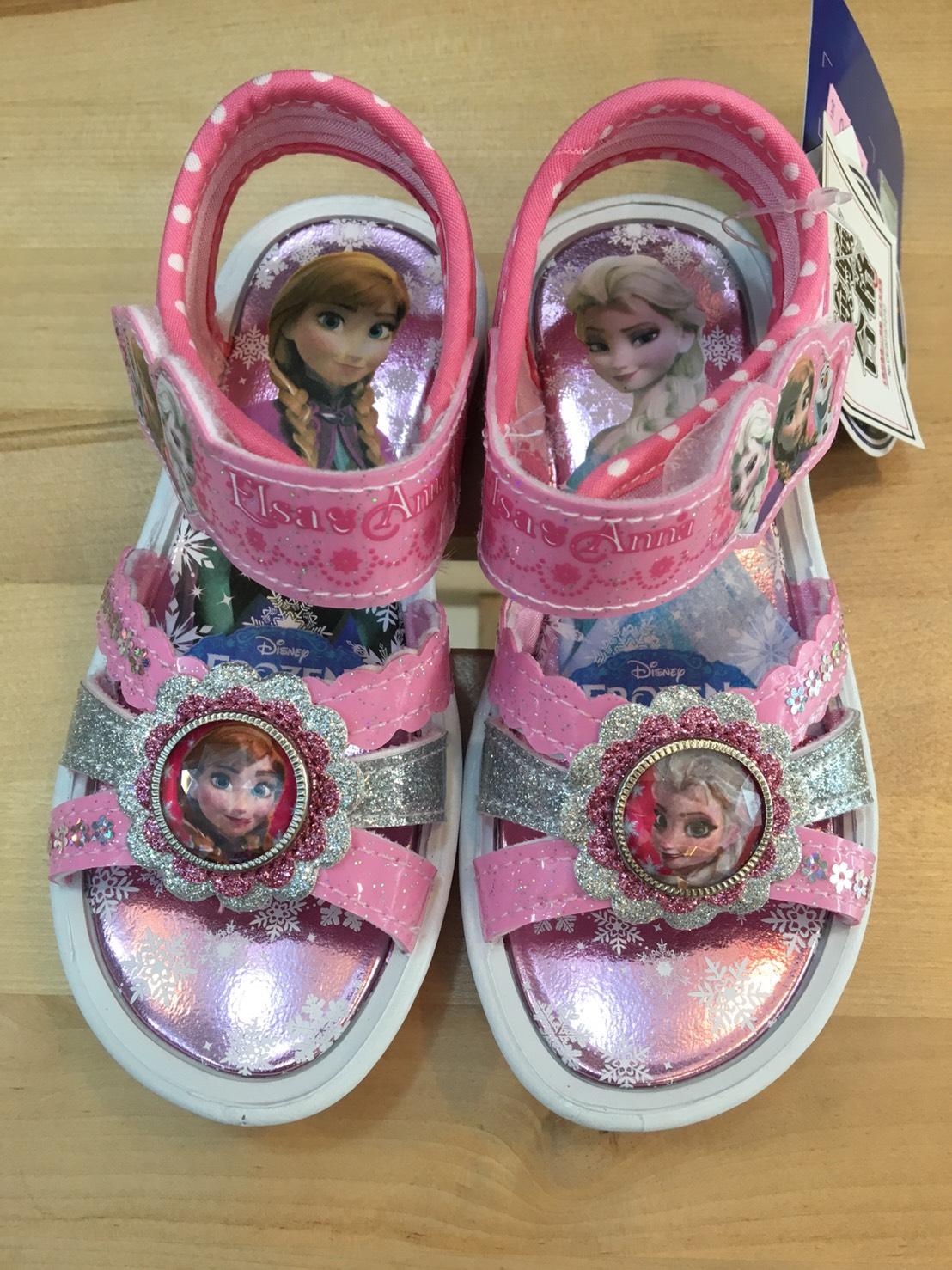 夏季出清【禾宜精品】正版 冰雪奇緣 水鑽 亮粉紅 涼鞋 童鞋 16,17,19 台灣製造 SGS檢驗合格 童鞋