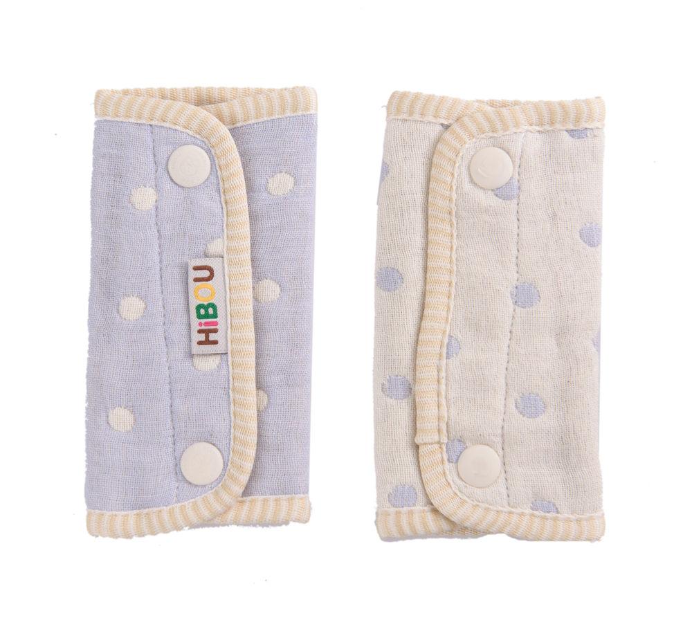 HiBOU-六重紗-背帶防污口水巾(潔淨紫)