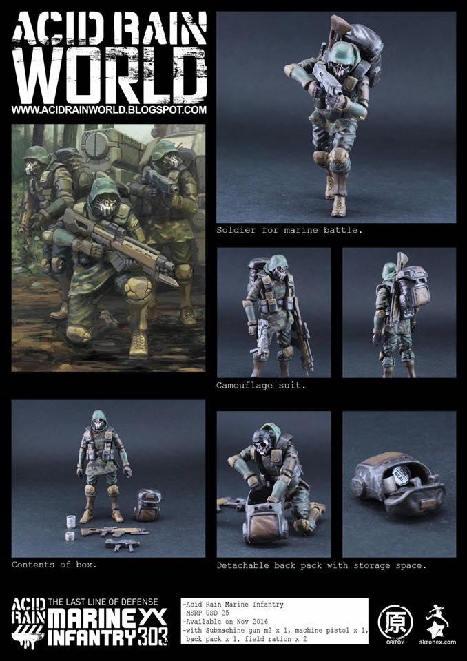 ◆時光殺手玩具館◆ 現貨 公仔 3.75吋 酸雨戰爭 Acid Rain Marine Infantry AF 海陸步兵