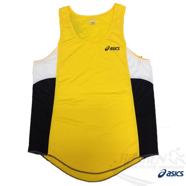 ASICS 亞瑟士 慢跑田徑背心 (黃) 吸汗速乾 防紫外線 夜跑 路跑